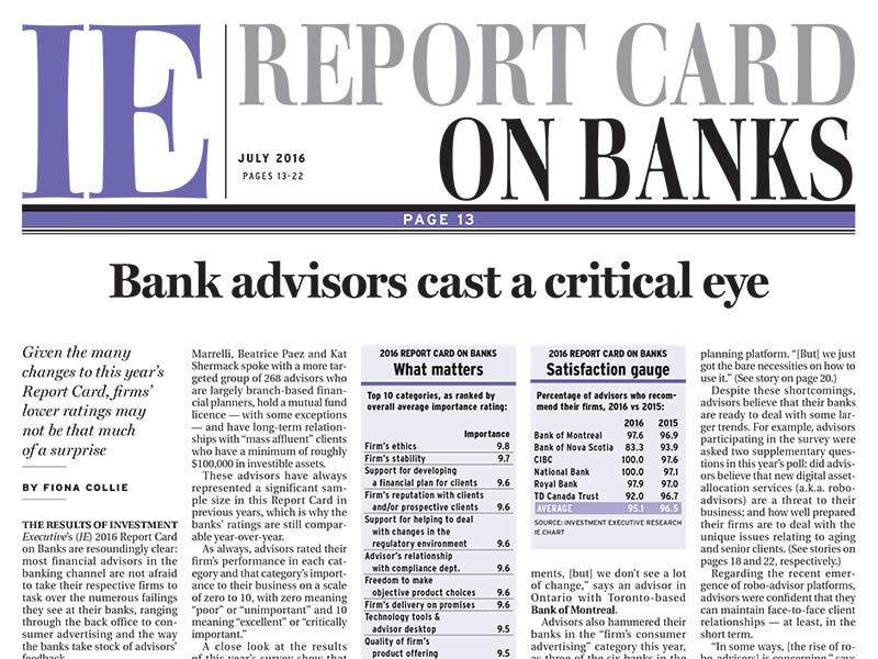 Bank Report Card 2016