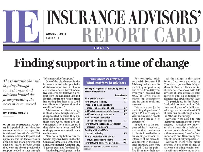 Insurance Report Card 2016