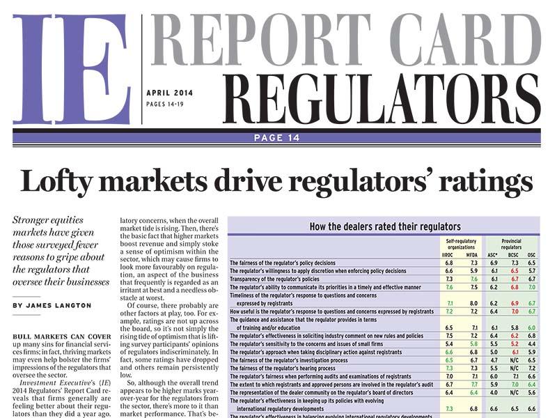 Regulators Report Card 2014