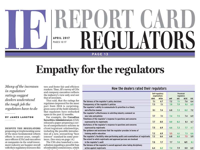 Regulators Report Card 2017