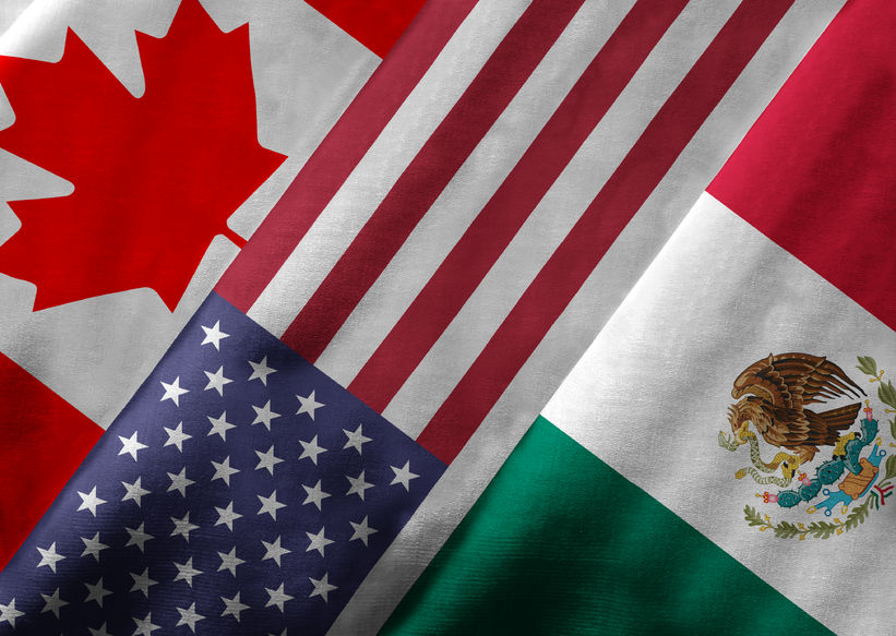 flags of the north american free trade agreement