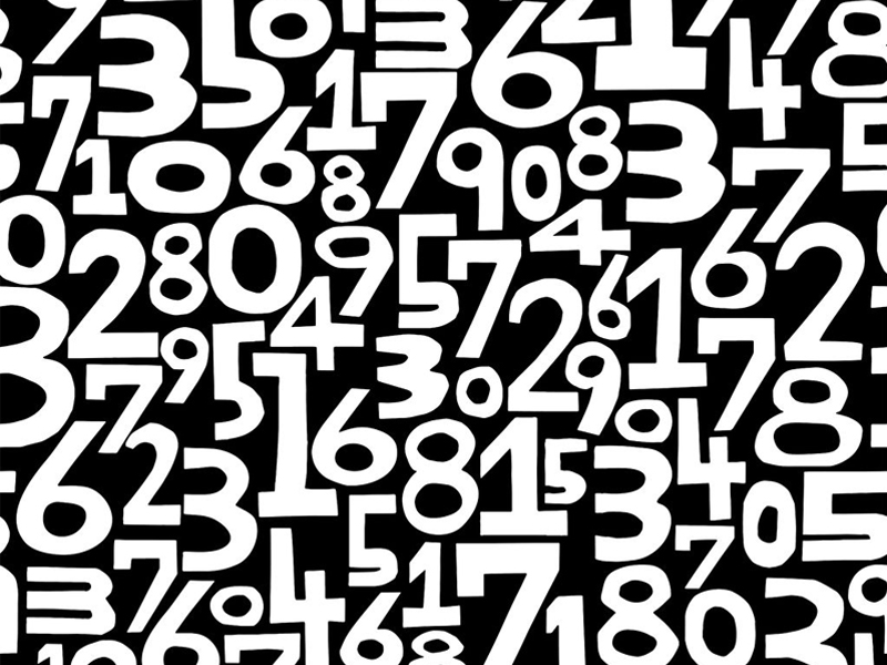 Background of numbers seamless pattern calculations