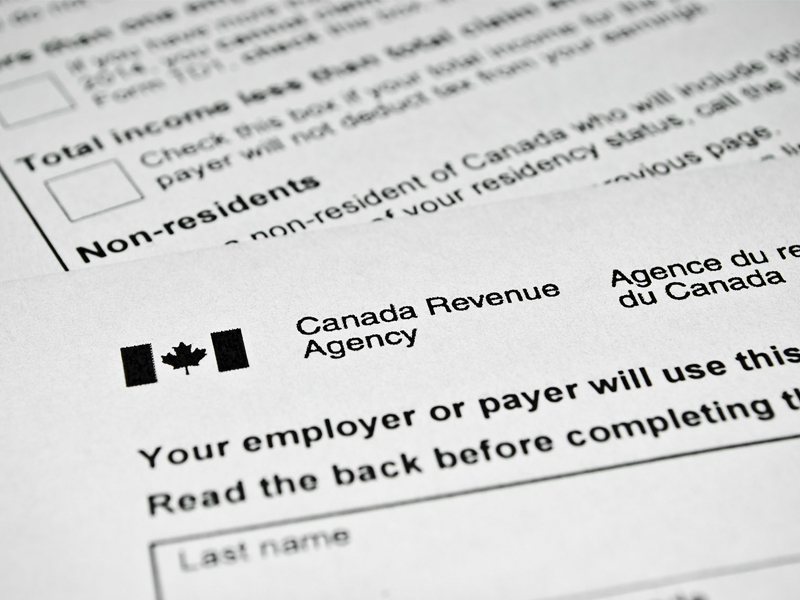 Canadian tax form Canada Revenue Agency