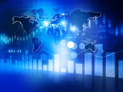 Digital design economic Stock market chart