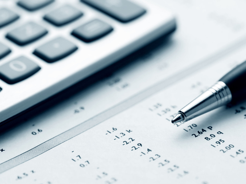 Financial accounting business sheet calculator