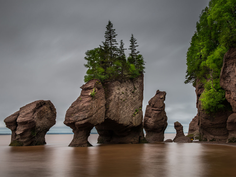 Flowerpot Rocks, part of the Hopewell Rocks, in New Brunswick, Canada