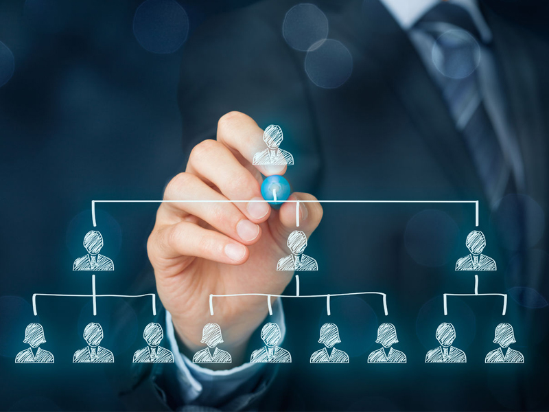 Leadership corporate hierarchy recruiter team leader employee selection new job