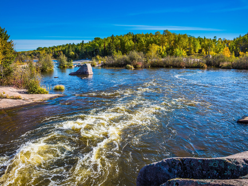 Old Pinawa Dam Provincial Heritage Park and Winnipeg River