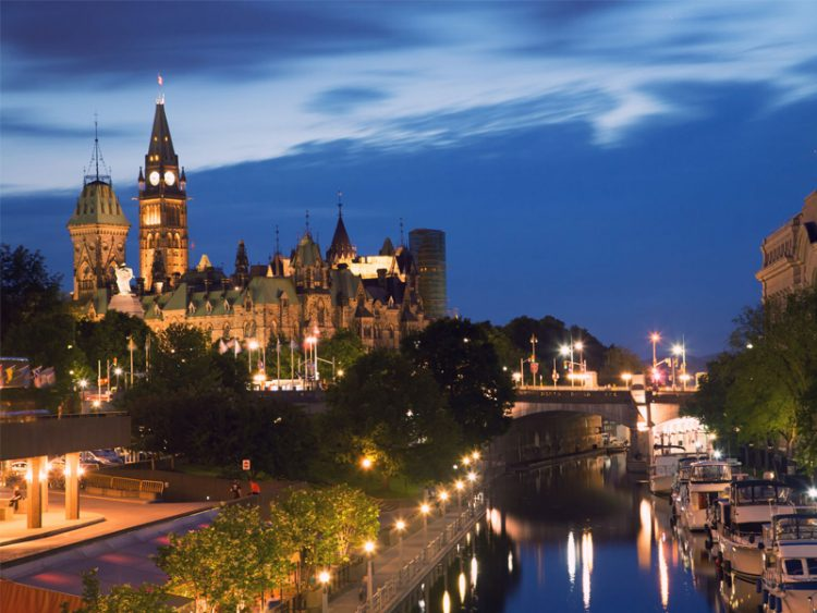 Ottawa Canal at night