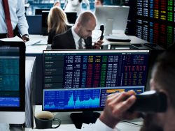 People Working Finance Stock Exchange ConceptPeople Working Finance Stock Exchange Concept