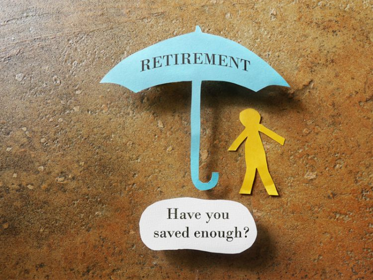 Retirement umbrella with Have you saved enough text