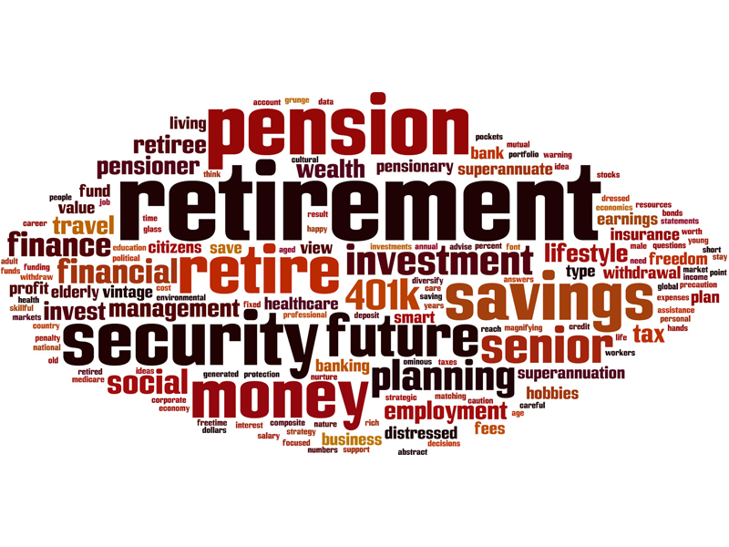 Retirement word cloud concept Vector illustration