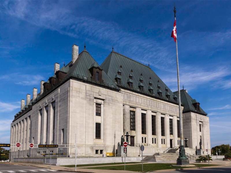Supreme Court of Canada building in Ottawa