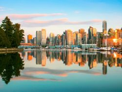 Vancouver skyline with Stanley Park