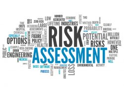 Word Cloud with Risk Assessment related tags`