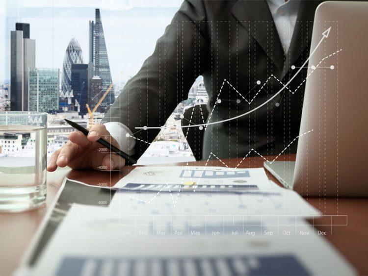 businessman documents smart phone digital tablet graph business diagram