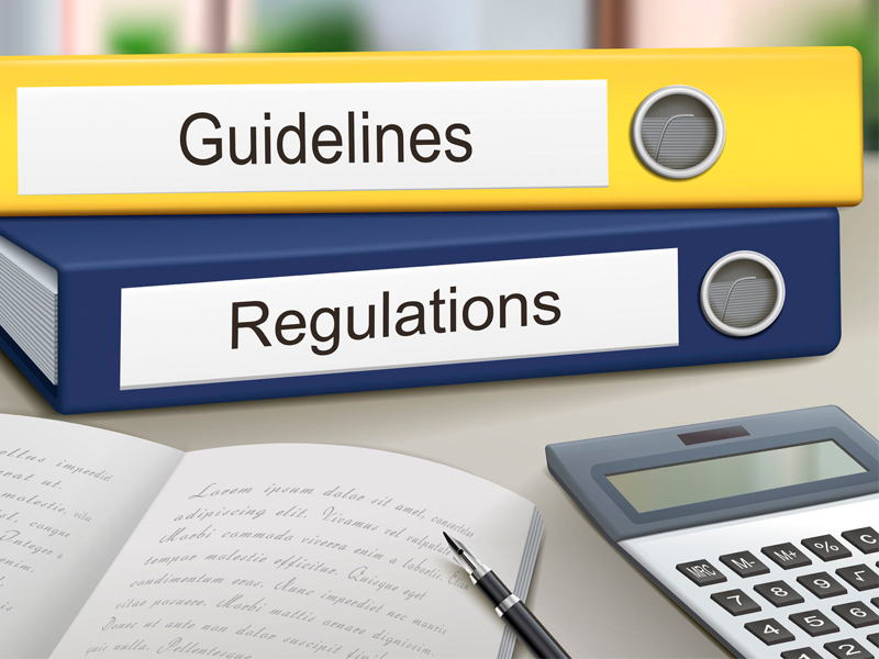 guidelines and regulations binders