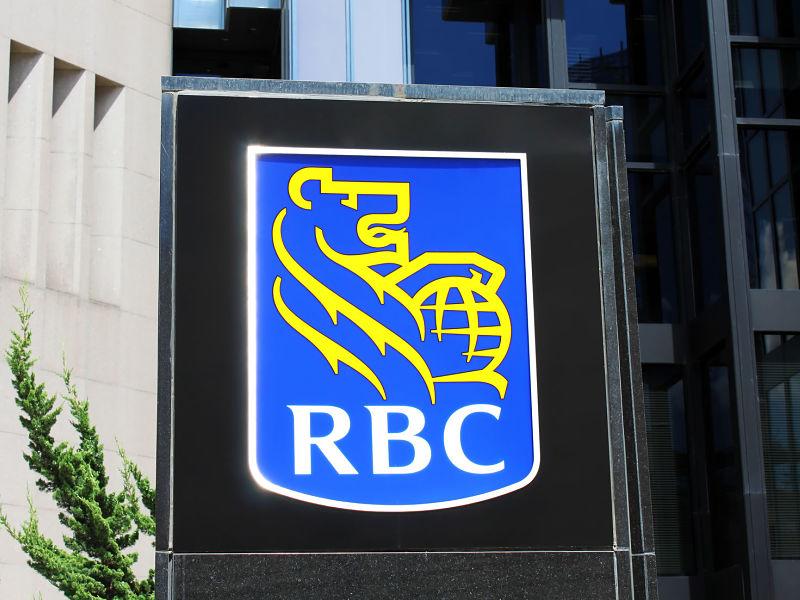 RBC logo Royal Bank of Canada sign