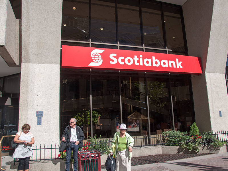 Bank of Nova Scotia main branch in Calgary, Alberta