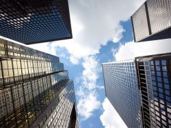 Office buildings in Toronto's financial district