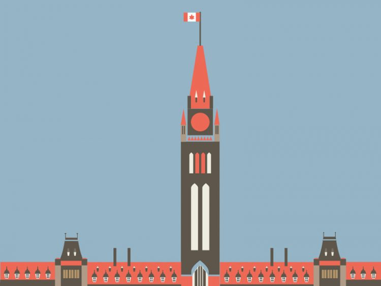 Parliament hill, Ottawa, graphich
