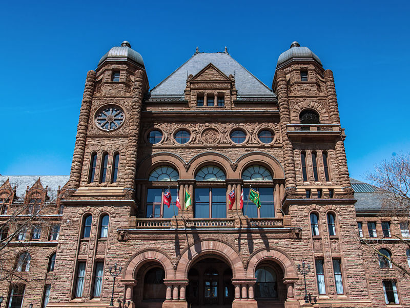 Queen's Park, Ontario legislature, exterior