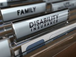 disability insurance file folder
