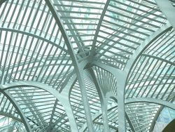 Intertwining steel arches at sam pollock square, brookfield place, toronto,