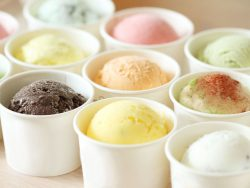 multiple flavours of ice cream