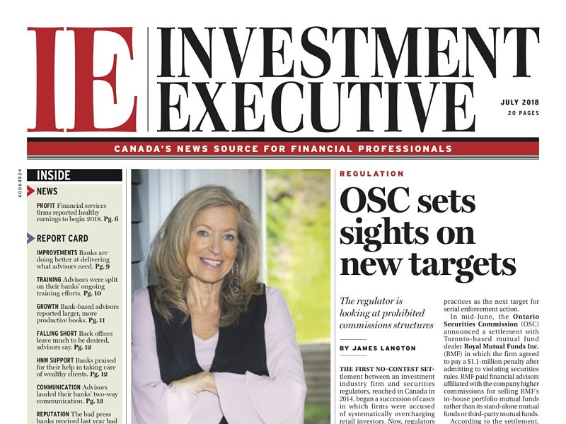 Investment Executive July 2018 front cover