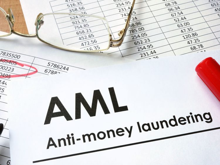 paper with words anti-money laundering