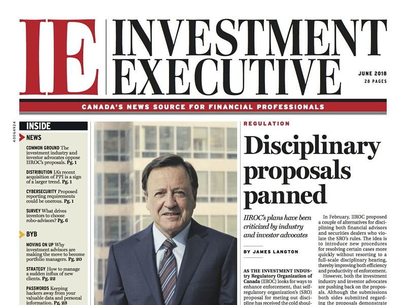 Investment Executive June 2018 front cover