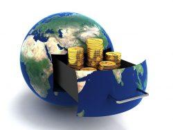 globe of money gold