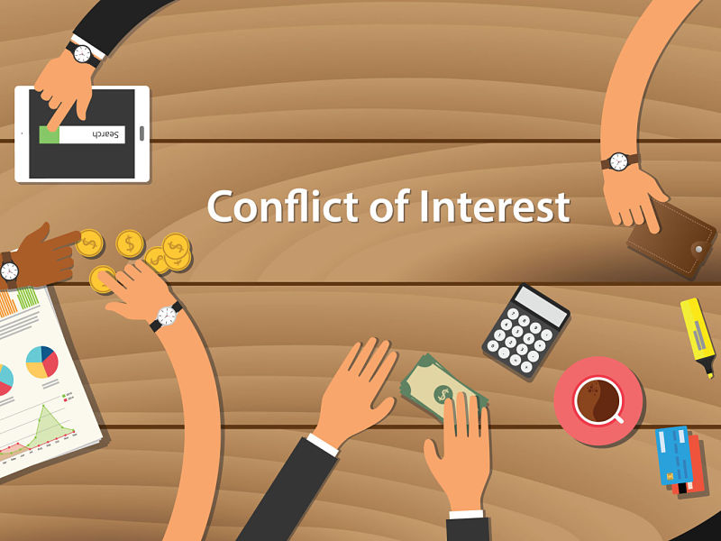 conflict of interest illustration