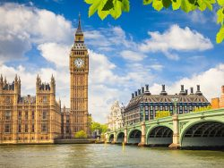 big ben, bridge, river, london
