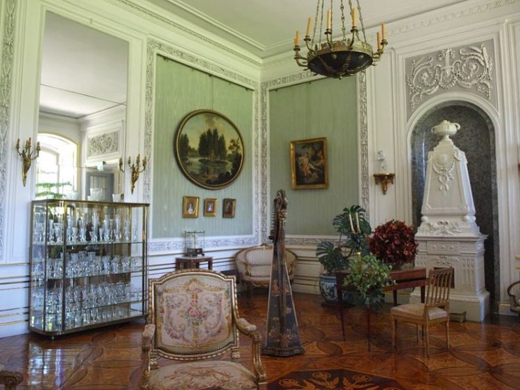 interior of lancut palace, poland