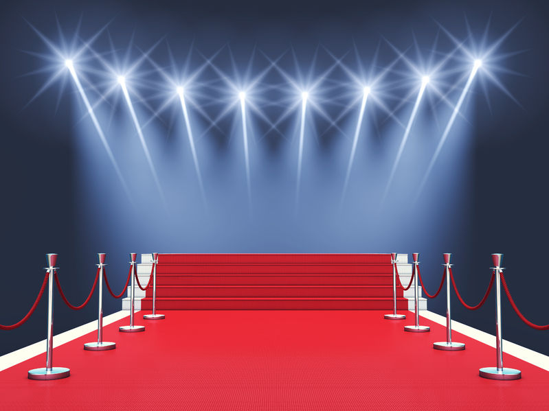 41791403 - red carpet event with spotlights award ceremonypremiere