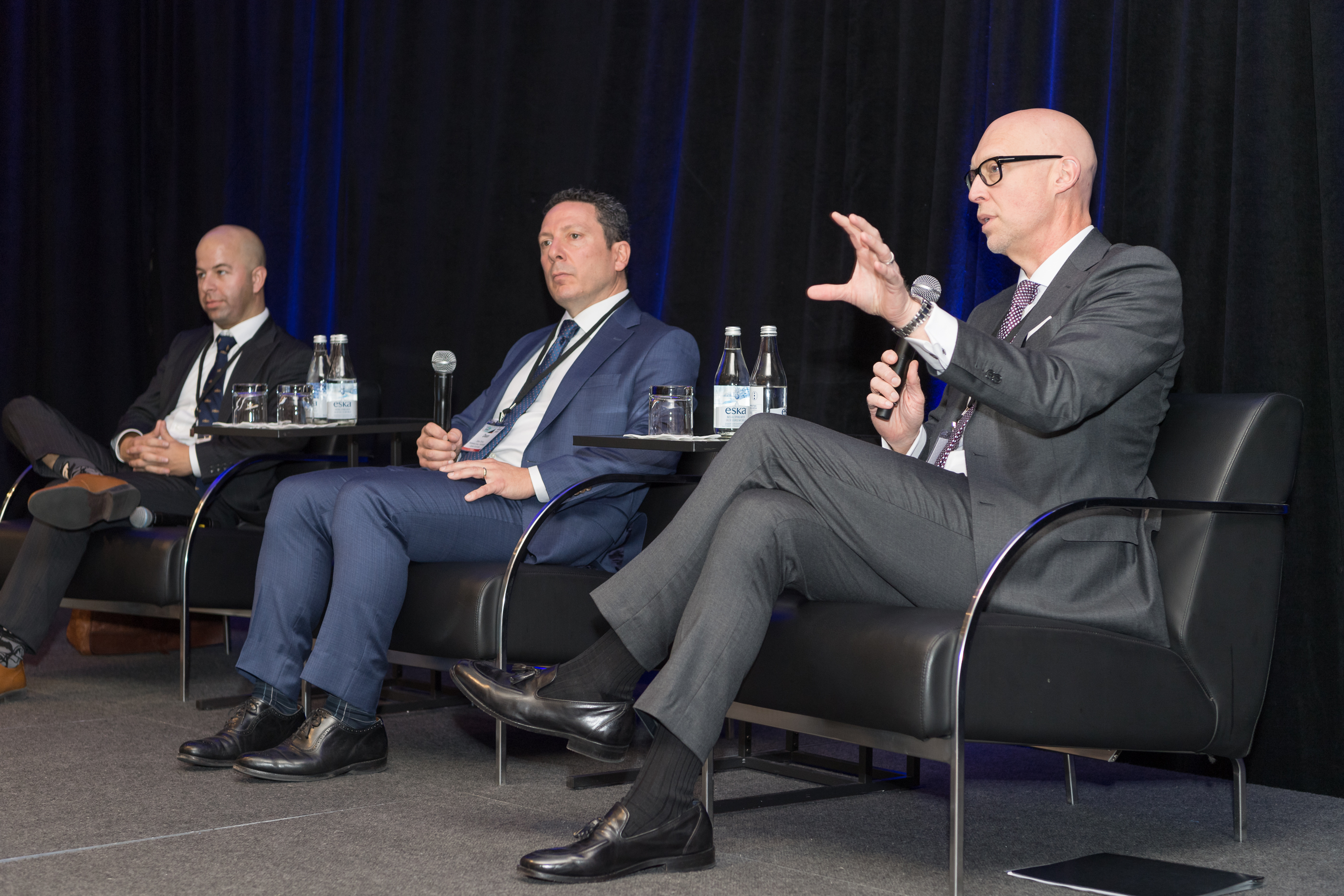 Julian Klymochko, Dean Orrico and Duane Green met with attendees at the 2019 ETF Summit.