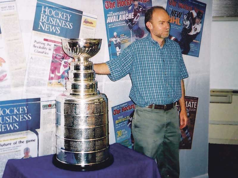 Grant McIntyre with the Stanley Cup