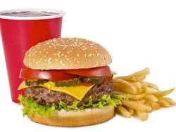 burger fries and a cola