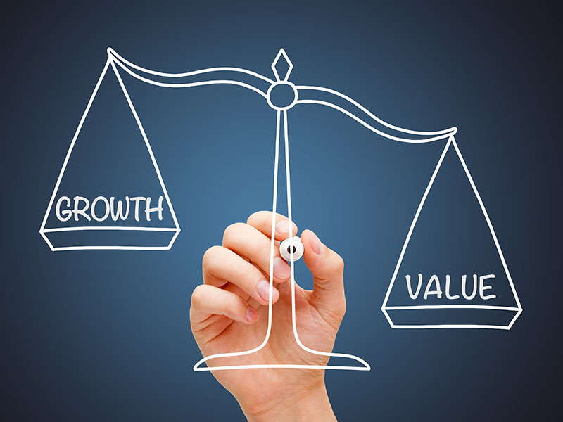 Value and growth on scales