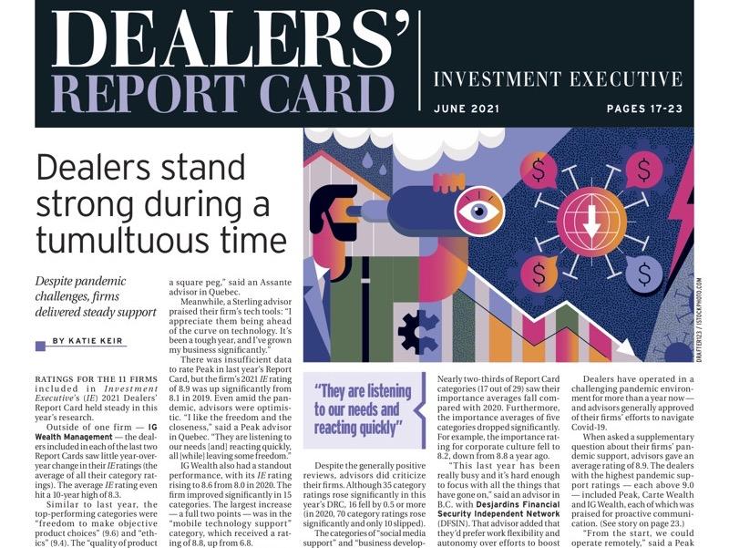 dealers' report card 2021