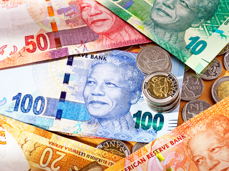 Collage of South African Money
