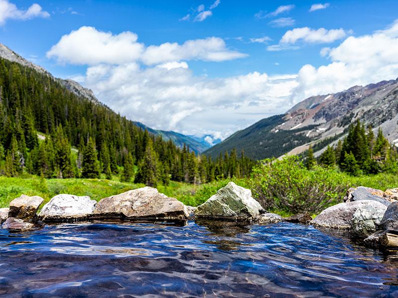 Hot springs blue pool
