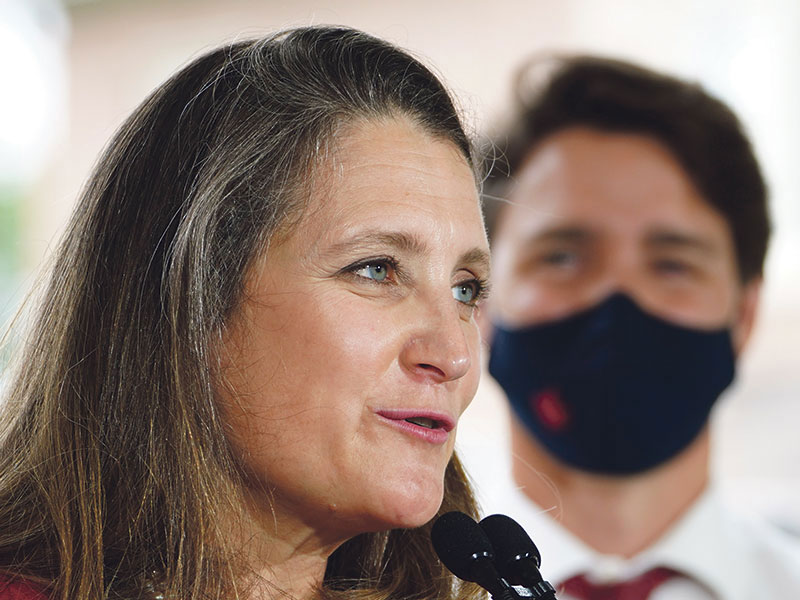 Finance Minister Chrystia Freeland and Prime Minister Justin Trudeau