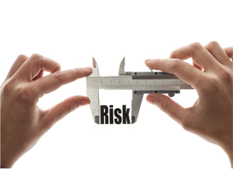 Hands adjusting risk