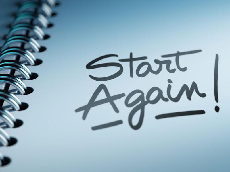 notebook start again